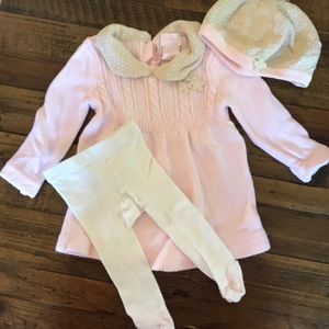 Adorable girls sweater dress set